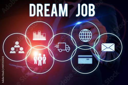 Fotomural Word writing text Dream Job