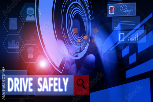 Fotografering  Handwriting text writing Drive Safely