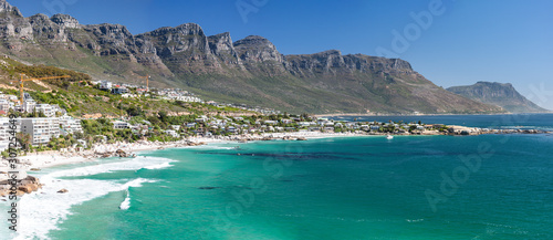 Panorama from Bantry Bay to Camps Bay on the Western Cape Coast Wallpaper Mural