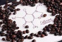 Coffee Beans With Hand Drawn C...