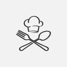 Chef Logo Design, Fork And Spo...