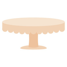 Isolated Cake Stand