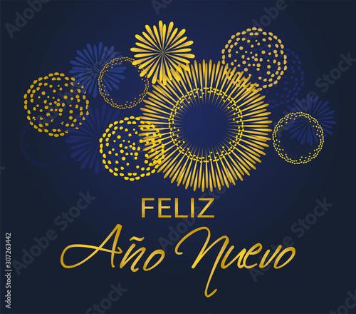 Happy New Year in Spanish Wallpaper Mural