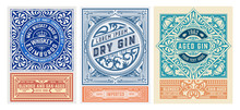 Set Of 3 Vintage Labels For Pa...