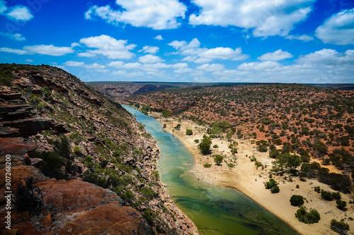 Vászonkép The gorgeous loop trail bushwalking in Kalbarri National Park , Western Australi