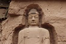 Buddha Statue At Bingling Cave...