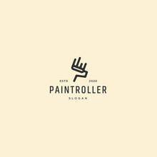 Retro Vintage Paint Roller Logo