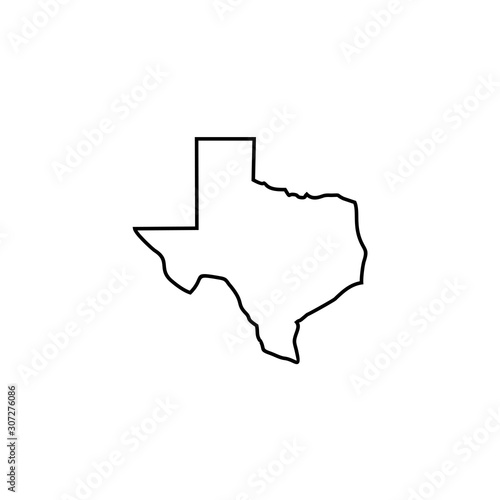 maps of Texas icon vector design symbol Tableau sur Toile
