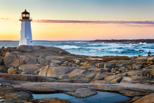 Sunset At Peggy's Cove Nova Scotia, Canada