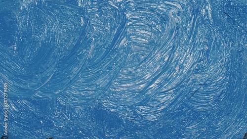 Obraz na plátne  Artist copyist paint seascape with ship in ocean