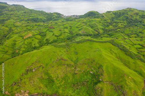 Fototapeta Aerial view partial of Batanes Island located in Philippines. obraz na płótnie