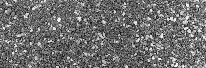 Gray gravel stones as background or texture