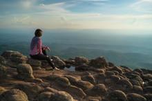 The Knob Stone Ground At Laan Hin Pum Viewpoint Phu Hin Rong Kla National Park,Thailand