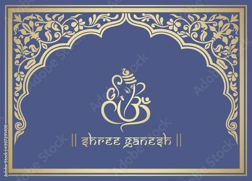 Ganesha, wedding card, royal Rajasthan, India Canvas Print