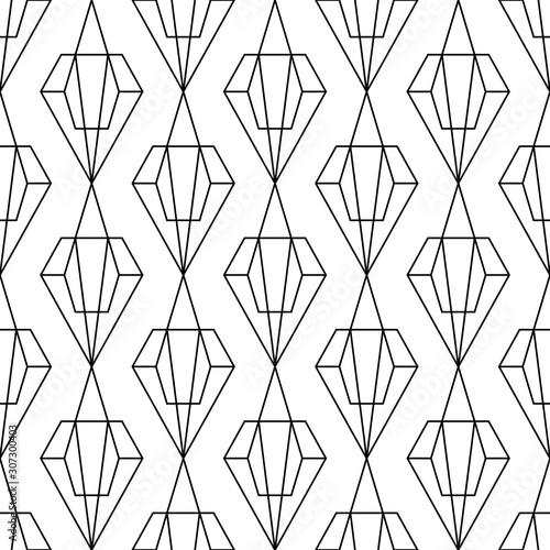 Simple seamless artdeco pattern vector illustrations Fototapete
