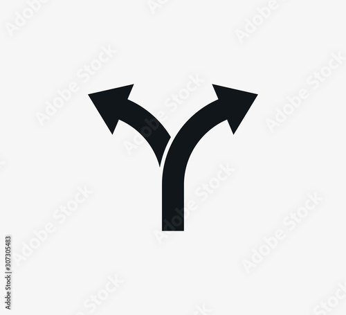 Photo Arrow, two way, direction icon. Vector illustration, flat design