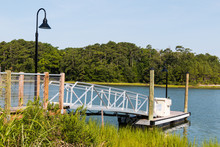 Side View Of The Canoe And Kayak Launch Ramp At Owl Creek In Virginia Beach.