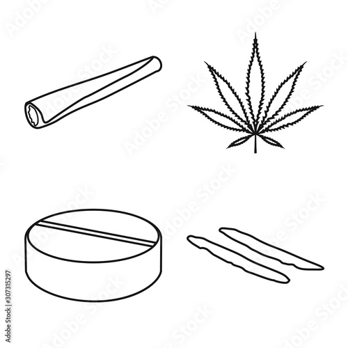 Vector design of narcotic and medical icon Fototapeta