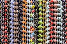 Multicolored Evil Eye Supersticious Bracelets Background Texture