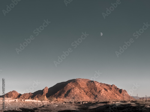 red rock and moon, beautiful toned image Canvas-taulu