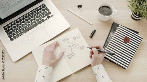 Fotomural  Stylish working space