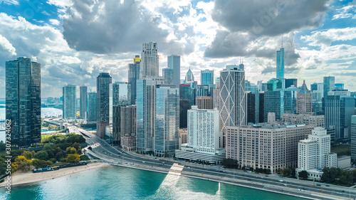 chicago-skyline-z-lotu-ptaka-widok-z-drona