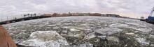Broken Ice At City River