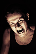 Spooky Portrait Of Vampire