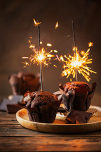 Sweet Muffins With Choccolate ...
