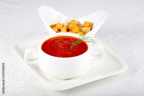 Gazpacho soup Canvas Print