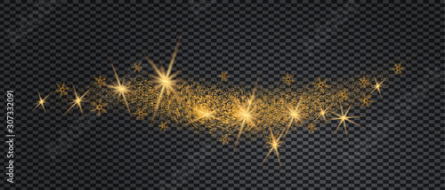 Fotografía Stardust wave is glittering