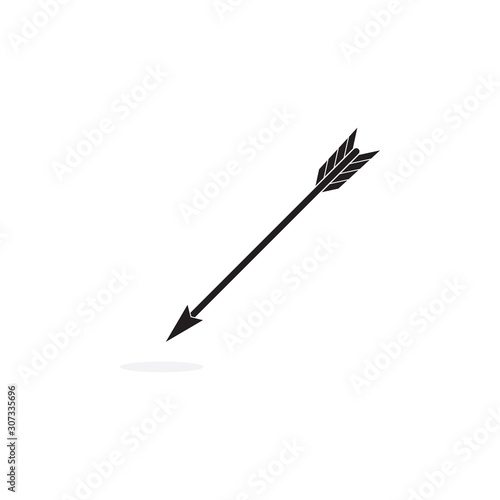 Set of Arrow archery icon vector illustration Logo Template Wallpaper Mural