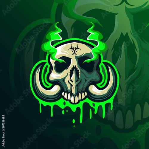 Obraz na plátne toxic mascot logo design vector with modern illustration concept style for badge, emblem and tshirt printing