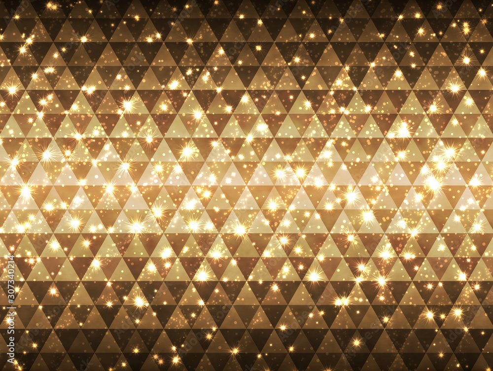 Fototapeta Gorgeous light background_gold triangle