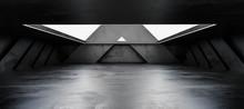 Underground Concrete Basement With Day Light Industrial Grunge Concrete Background 3d Render Illustration