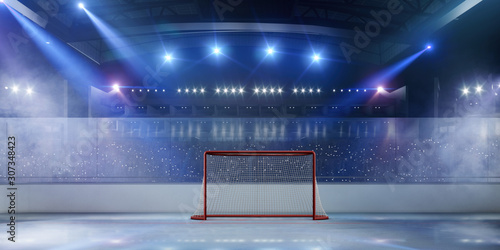 Ice hockey stadium. Canvas Print