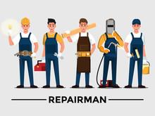 Repairman Set,People Teamwork ...