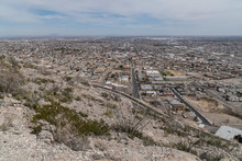 A Scenic View Of El Paso Texas From The Franklin Mountains.