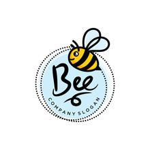 Bee Logo Design Template Vector Illustration