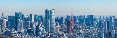 (東京都-風景パノラマ)ラウンジから望む六本木側風景2 Canvas Print