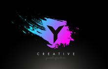 Y Artistic Brush Letter Logo D...