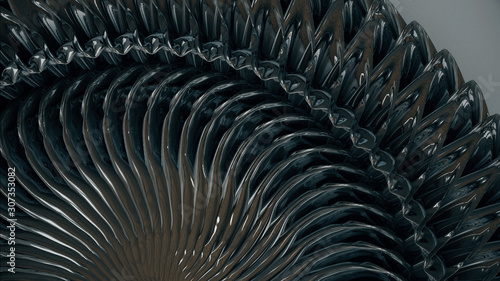 Photo  Metallisches Ornament - klingonisches Design