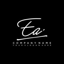 EA Initials Signature Logo. Ha...