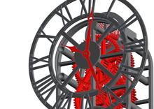 Clock Mechanism Sketch 3d Illu...