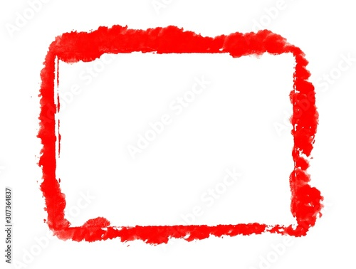 Photo  Handgemalter roter grunge Rahmen mit Textfreiraum