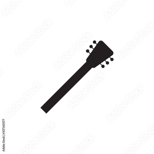 Photo  Guitar neck icon design template vector isolated