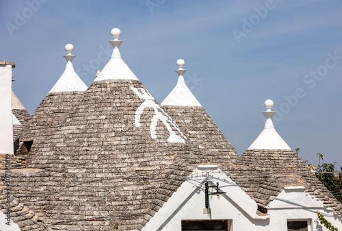 Obraz na plátně Stone roof of Trulli House in Alberobello, Italy
