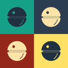 Color Death Star Icon Isolated...