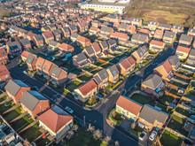 Aerial Houses Residential Brit...