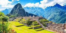 View Of The Ancient City Of Machu Picchu, Peru.